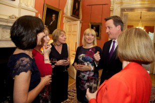 Prime Minister meeting with health visitors at a No 10 Reception in Oct 2014